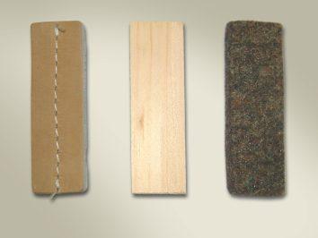 Obiecte de semnalizare 3 bucati: 1 piele 1pasla 1 lemn