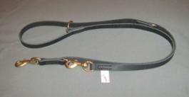Lesa de dresaj ajustabila din piele 16x1600mm carabina din cupru