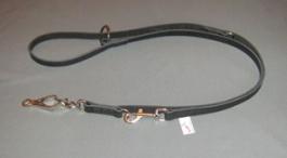 Lesa din piele  pentru dresaj adjustabila16x1600mm carabina in foarfeca