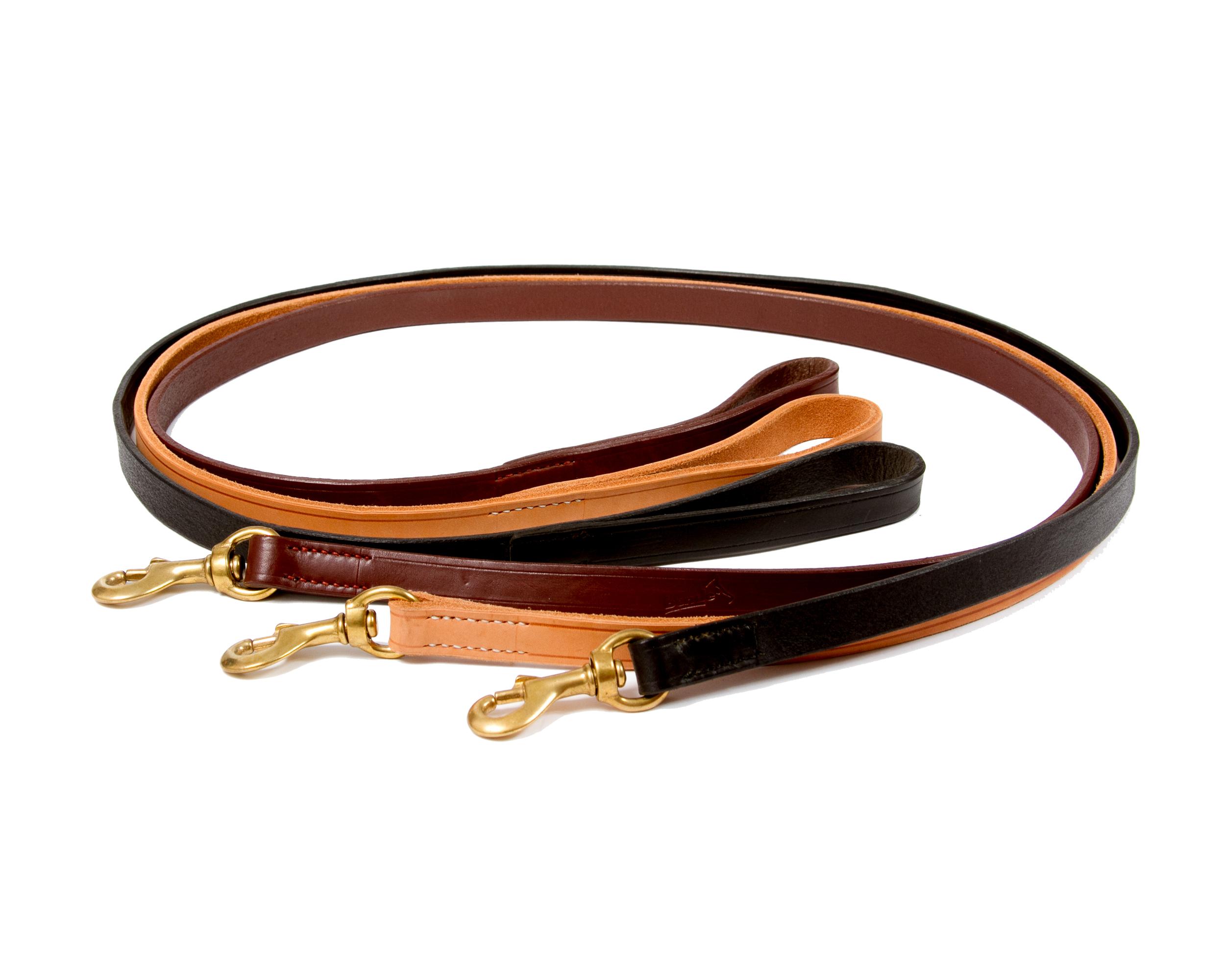 Lesa din piele cu dimensiunile de 16 X 100 mm , cu carabina din alama , culoare neagra sau maro, XA161012