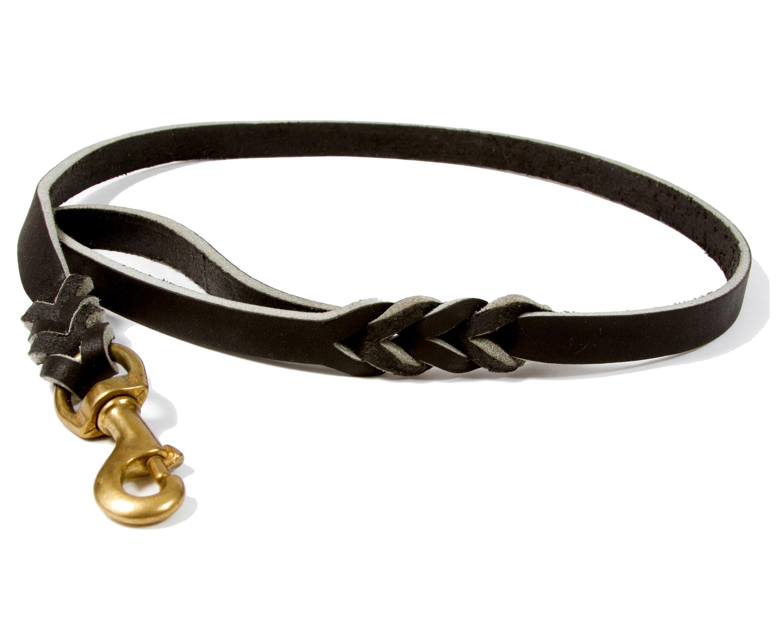 Lesa din piele cu dimensiunile de 18 X 100 mm , cu carabina din alama , culoare neagra sau maro, XA181012