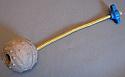 Minge 5,5cm din cauciuc duritate medie snur de 30cm cu maner din plastic