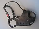 Botnita din piele intaritura de plastic pentru Rottweiler